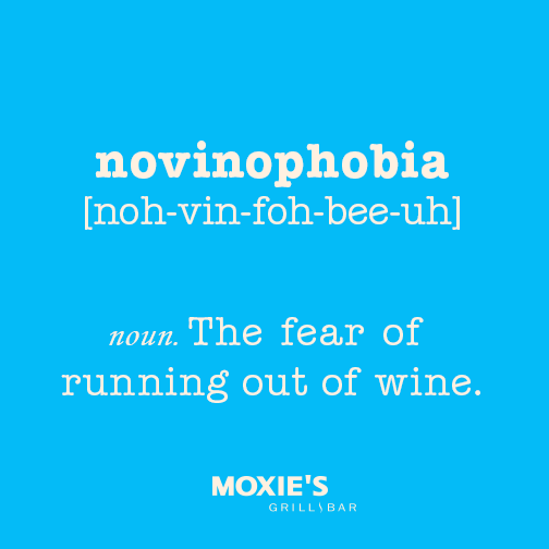 Avoid Novinophobia at Moxie's Wine Wednesdays