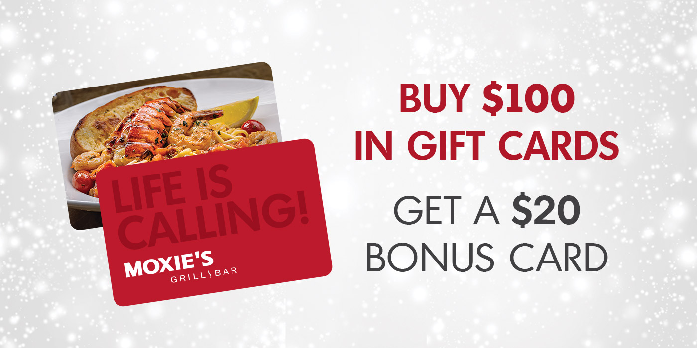 Buy $100 in Gift Cards, Get a $20 Bonus Card