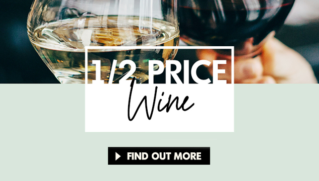 Half price bottles of wine with Moxie's pick-up