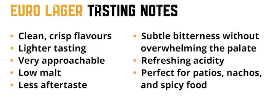 Euro Lager Tasting Notes