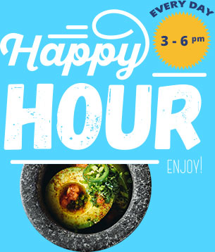 Happy Hour - Every Day 3 - 6pm