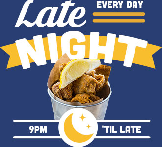 Happy Hour - Every Day 9pm - Late